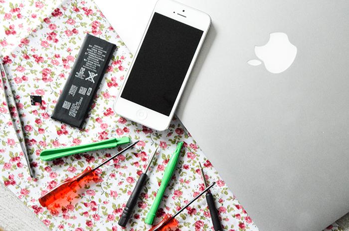 batterij van je telefoon