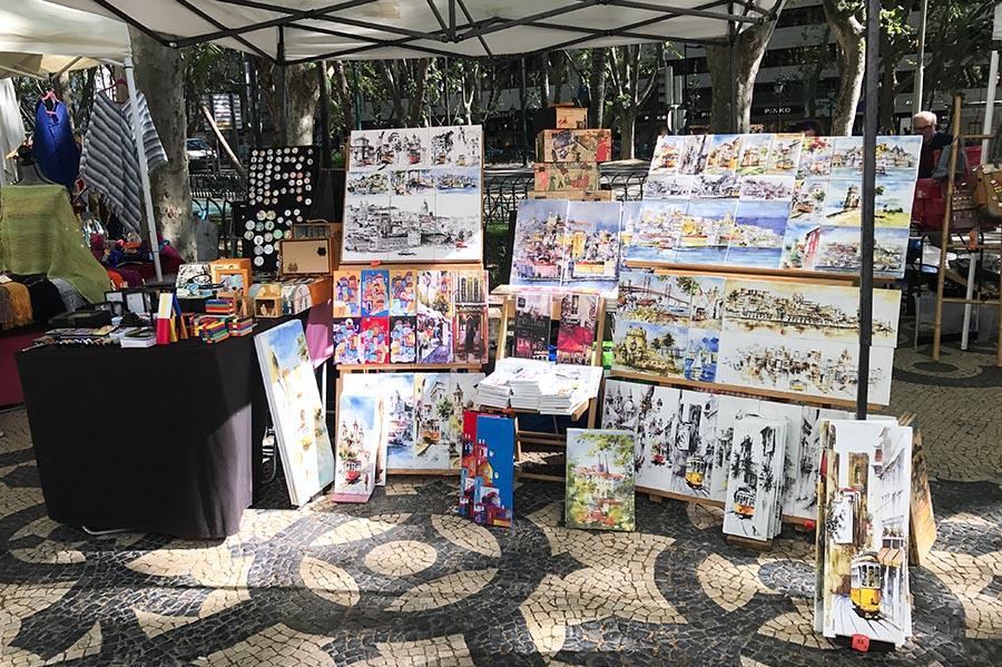 Citytrip Lissabon antiekmarkt