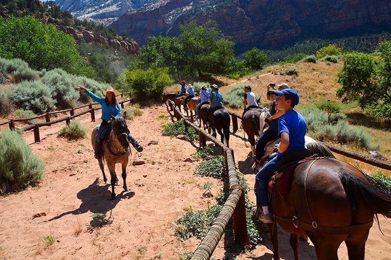 Zion national park Paardrijden deel 2