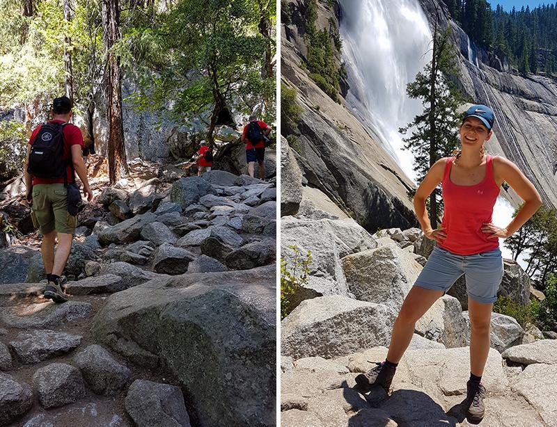 Yosemite National Park Nevada Fall hike