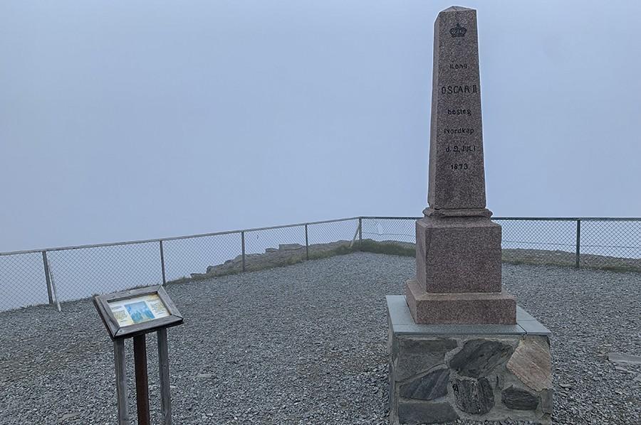 Monument van Koning Oscar Noordkaap - sommarmorgon.com
