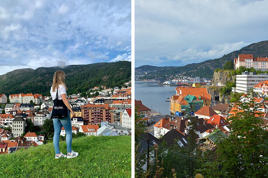 Het uitzicht over Bergen