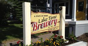 Lake Time Brewery sign