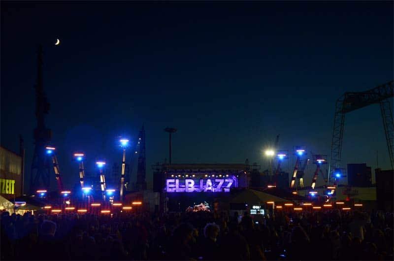 Elbjazz Hamburg 2013 Mainstage bei Nacht