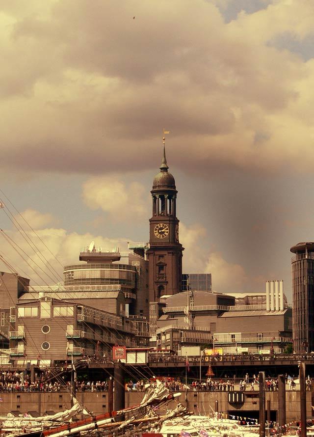 Hamburger Hafen auf gewollt