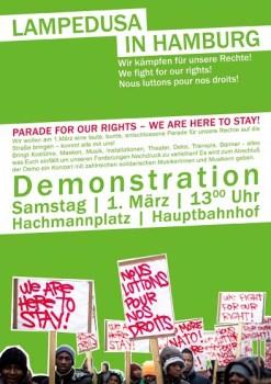 Demo Lampedusa in Hamburg