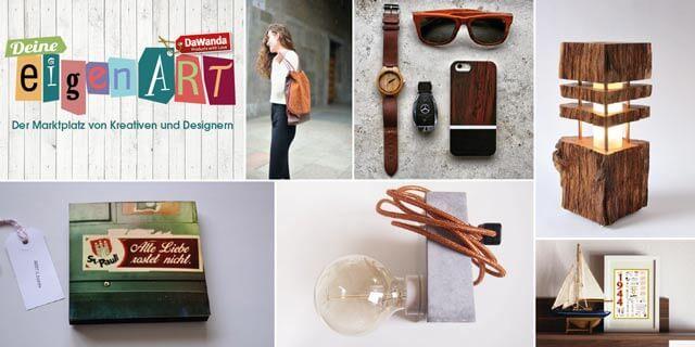 Collage mit Produkten bei Deine eigenART