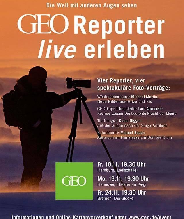 GEO-Reporter live erleben in Hamburg