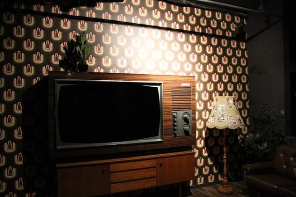Wandgestaltung in der Astra-Lounge im Millerntor-Stadion