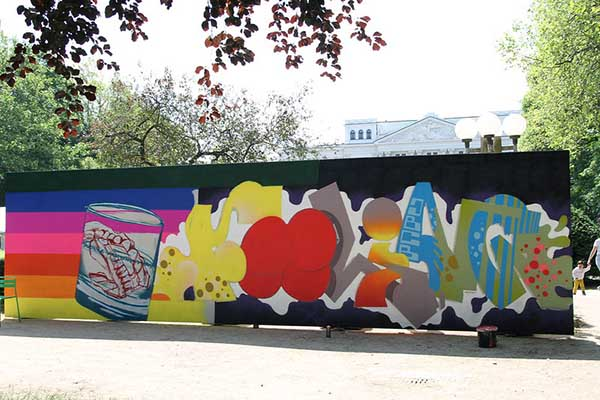 Graffiti bei der Altonale