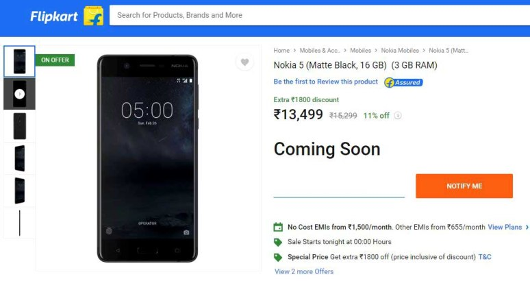 only on Flipkart for next one week starting from Tuesday, November 7.