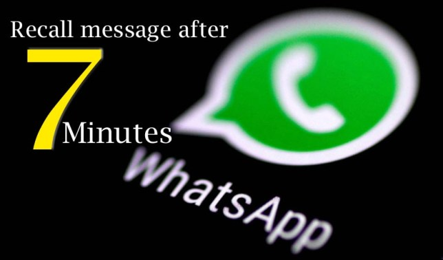Recall Whatsapp message after 7 minutes