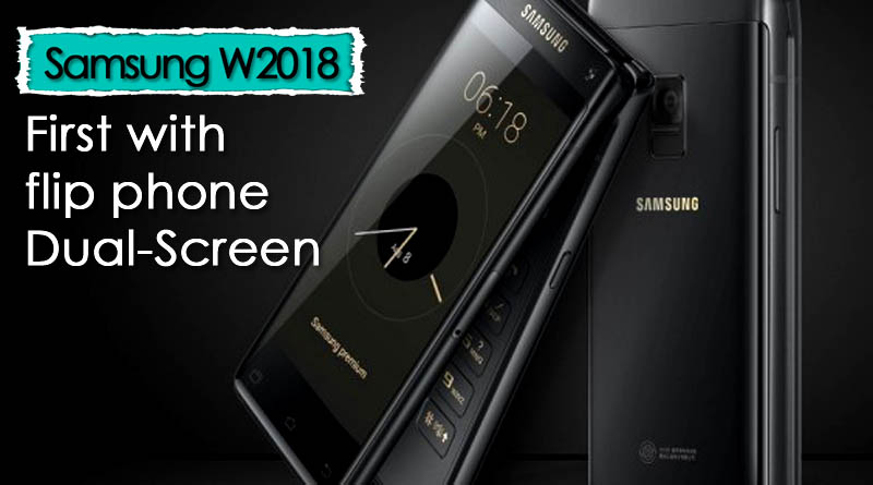 Samsung flip phone W2018 with Dual screen