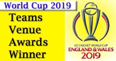 World Cup 2019 Teams, Venue and Rewards