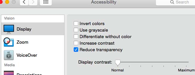 Reducing Transparency and Animations can help to boost Mac