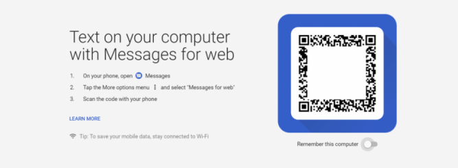 Using the QR code scanner on your phone, scan the QR code that appears on your PC