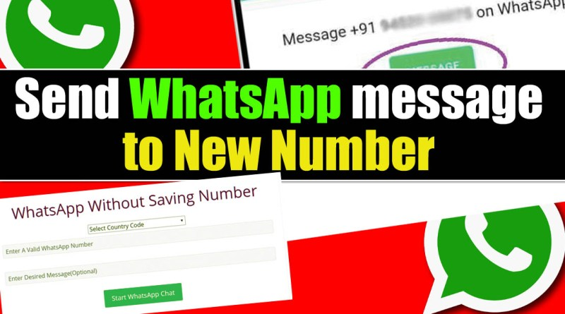 Direct Link to Send Whatsapp Message to Unsaved Number