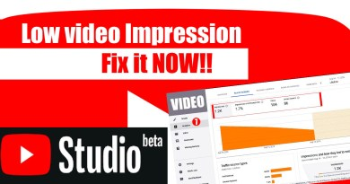YouTube Video Impressions Very Low and how to fix it