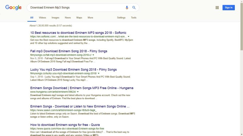 Google Dork Example download mp3 song