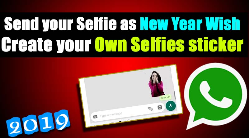 New year whatsapp sticker selfie