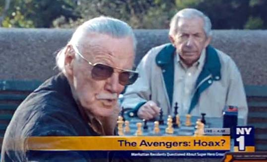 Stan lee The Avengers Superheroes in New York Give me a break