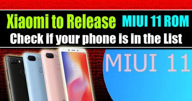 MIUI 11 ROM Release , Redmi phones MIUI 11