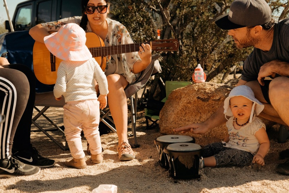 camping with baby toddler