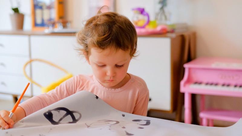 evaporative water painting paper sensory play