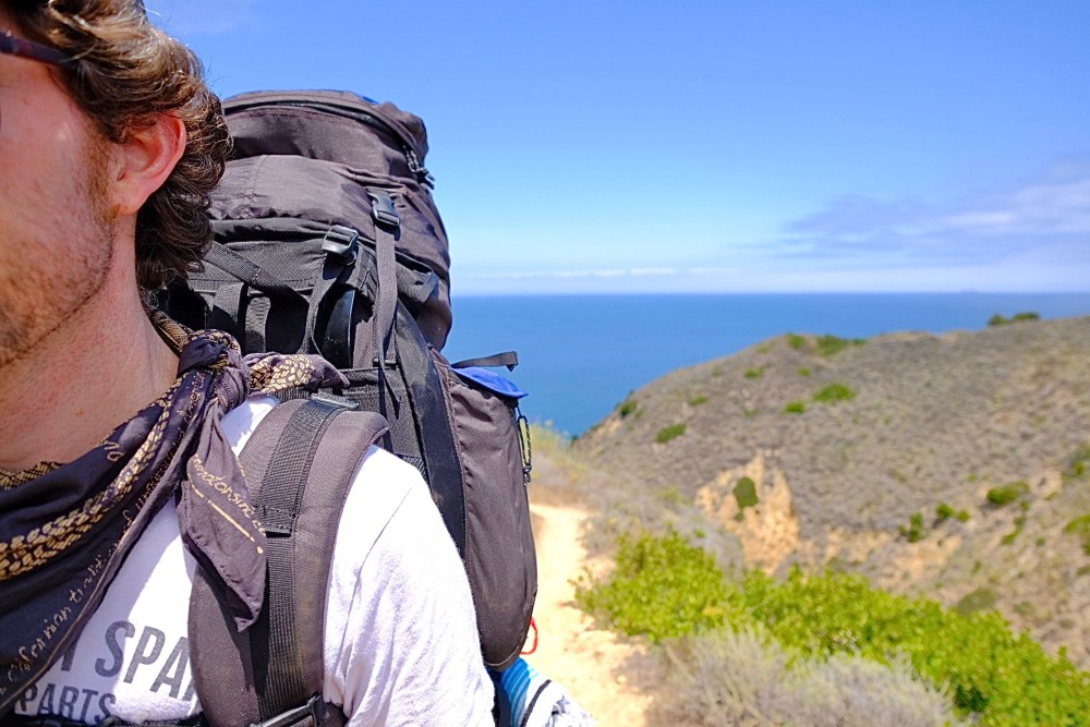 backpacking to del norte campground santa cruz island
