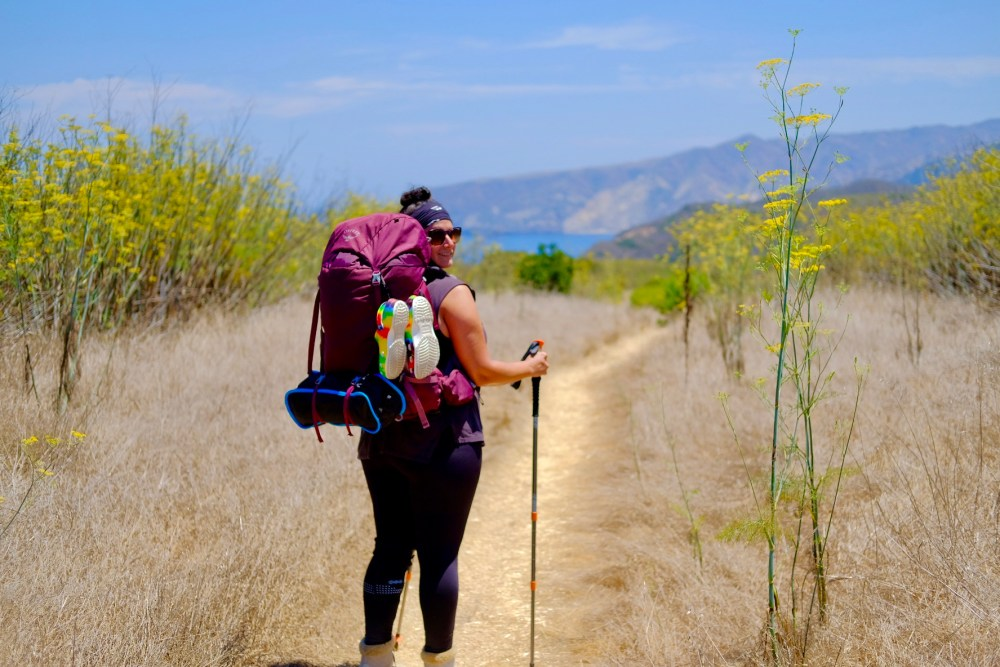 backpacking santa cruz island