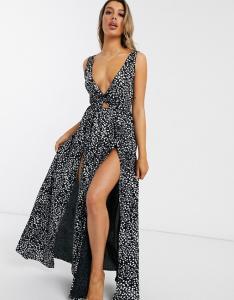 ASOS Polka Dot Beach Maxi Dress