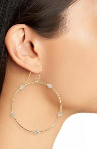Argento Vivo-Station-Hoop-Earrings