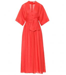 Theree-Graces-London-Ferrers-Linen-Midi-Dress