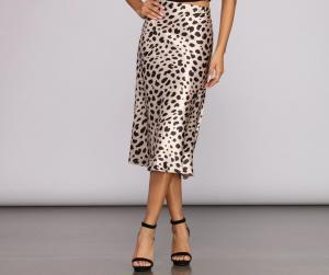 Windsor Leopard Print Midi Skirt