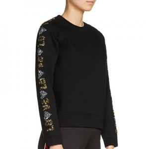 Sequin-Sleeve Sweatshirt; Maje, $154