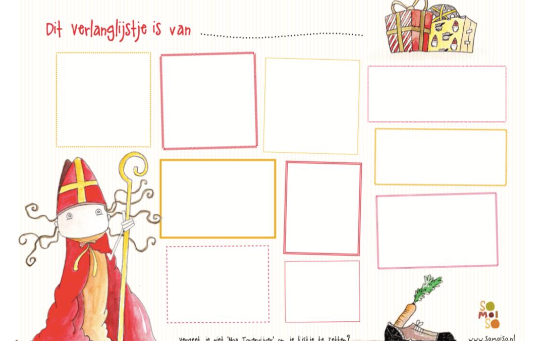Noa verlanglijstje Sinterklaas