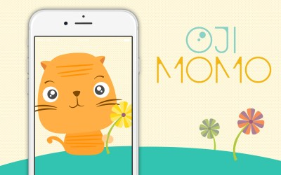 New: Ōji Momo stickers for your messages