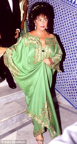 Liz Taylor in a Moroccan Caftan