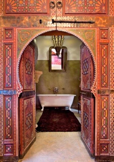 Moroccan Door for a moroccan style bathroom & Moroccan Doors: Decor Ideas Tips and Photos for Home! - SO MOROCCAN