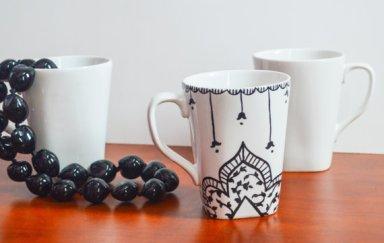 moroccan henna cool mug
