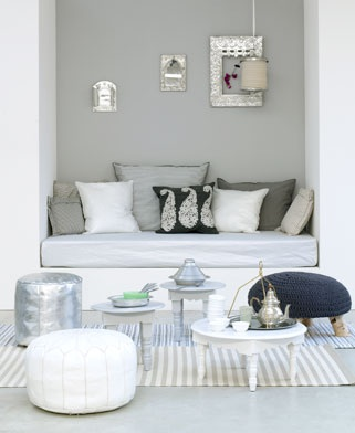 Another great ideas is adding a Moroccan Reading Nook or Work Space, image source: pinterest