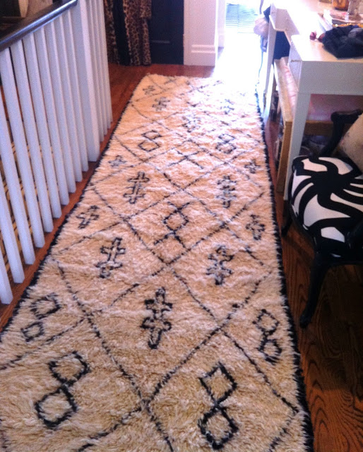 Moroccan stair runner using Boucherouite, Image source: Christine Dovey