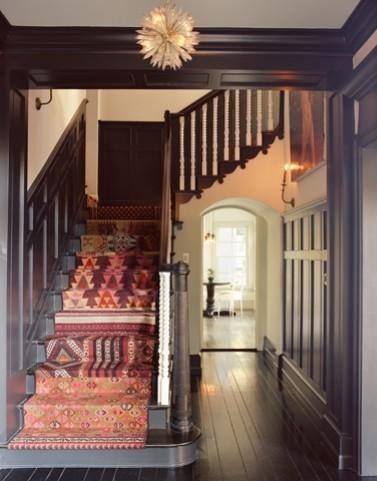 Moroccan Kilim Stair Runner, Residence, Silverlake CA Photo: Corey Walter
