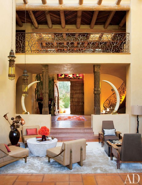 Will and Jada Pinkett Smith Living Room. Photo: Architectural Digest