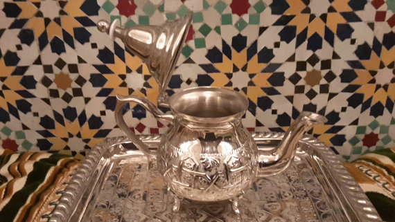 Authentic Moroccan Teapot from Fes, Morocco