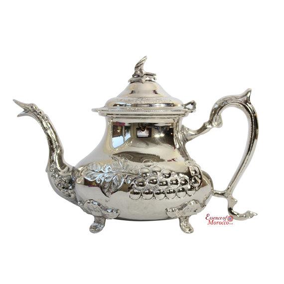 Moroccan silver vintage tea pot
