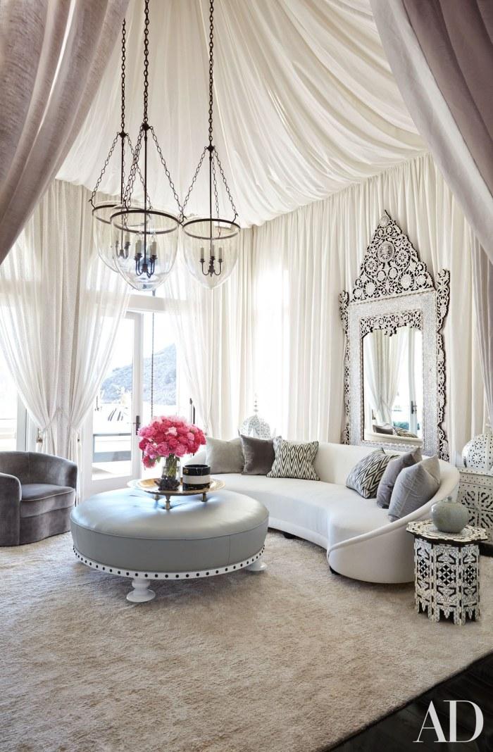Khloe kardashian living room, Image Source: Architectural Digest