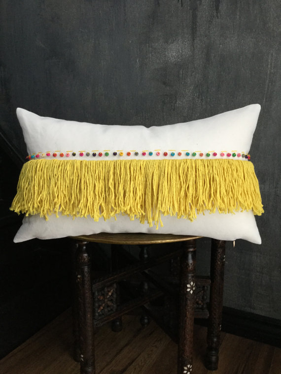 moroccan inspired wedding pillow