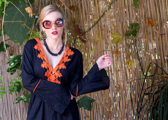 Black and Orange Kaftan Dress, Shop this item HERE