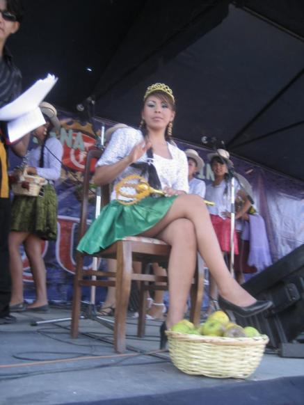 La Reyna de la Fiesta y Feria de la Manzana